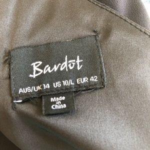 Bardot Dresses - Bardot Black Willow One Shoulder Choker Neck Dress